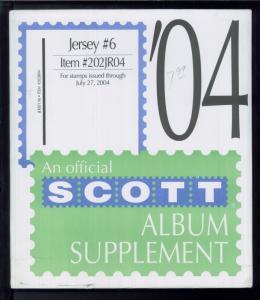 2004 Jersey #6 Scott Stamp Album Collection Supplement Pages Item #202JR04