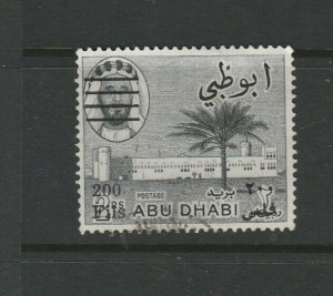 Abu Dhabi 1966 Opts 200Fils on 2R balck Used SG 23