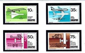 Singapore 312-15 MNH 1978 Aviation Development