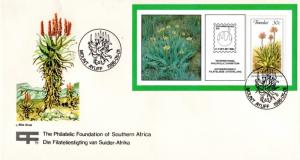 Transkei - 1986 Aloes MS FDC