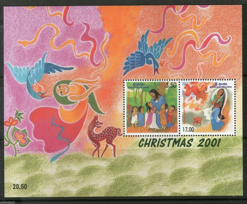Sri Lanka 2001 Christmas Paintings Jesus and children Sc 1363a M/s MNH # 9612