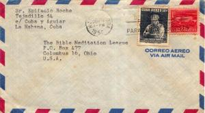 Cuba 1c Communications Building Postal Tax and 12c Baden-Powell Scouting 1957...