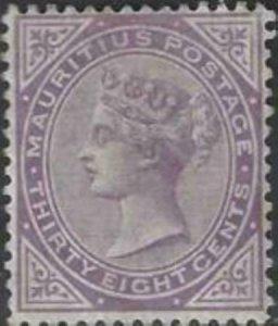 Mauritius 1880 SC 65 MLH