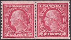 455 Mint,OG,NH... Line Pair... SCV $105.00