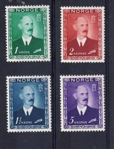 Norway Scott 275-278 Mint hinged (Catalog Value $115.25)