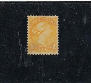 CANADA (KSG466) # 35 VF-MNG 5cts SMALL QUEEN /YELLOW/1870-93 CAT VALUE $60