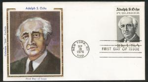 1700 FDC Alfred Ochs on Colorano Silk Cache U/A