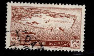 Syria Scott C160 Used Port of Latakia Airmail stamp