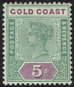 GOLD COAST 1898 QV KEY TYPE 5/-