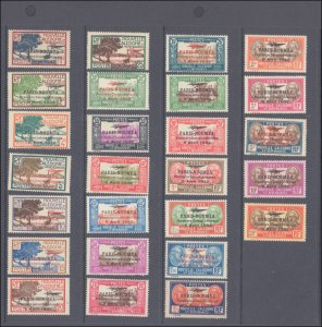 New Caledonia #182-207, Complete Set(26), 1933, Hinged