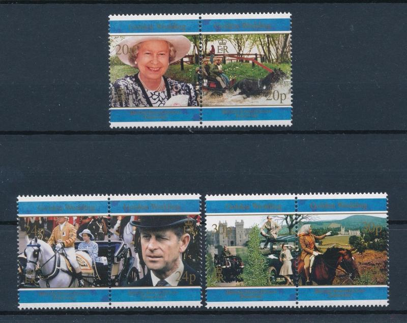 [57718] British Indian Ocean Territory 1997 Horse Royalty Three pairs MNH