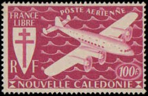 New Caledonia #C7-C13, Complete Set(7), 1942, Aviation - Airplanes, Hinged