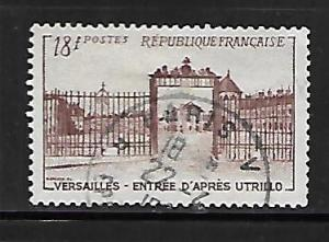 FRANCE, 686, USED,VERSAILLES GATE PAINTED BY UTRILLO