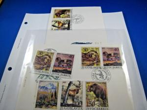 YUGOSLAVIA - TOPICAL STAMPS & FDCs - ANIMALS - SCOTT #1833  MNH & FDC     (br)
