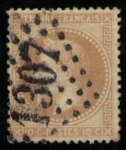 Emperor Napoléon III, France, 10 c, 1863-1870, YT #28, CV $ 339 (T-6696)
