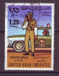 J20783 Jlstamps 1973 uae hv of set used #29 police