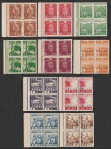 NORTH BORNEO - JAPAN OCCUPATION : 1944 Japan Pictorials blocks. MNH **.