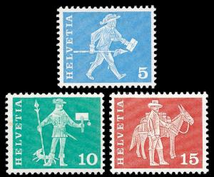 Switzerland 1960 Sc 382-84 MNH