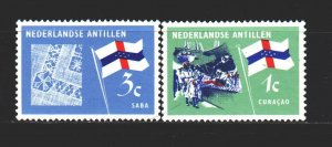 Antilles. 1965. 152-53 from the series. Flags. MNH.