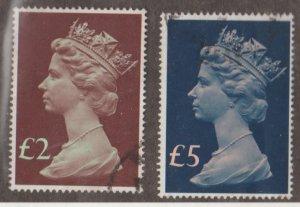 Great Britain Machins - Scott #MH175-MH176 Stamp - Used Set