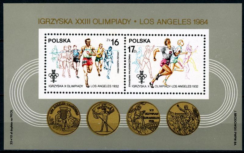 Poland MNH S/S 2621a Los Angeles Summer Olympics 1984