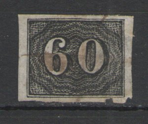 Brazil 1850 Sc# 24 Used G - Scarce early issue