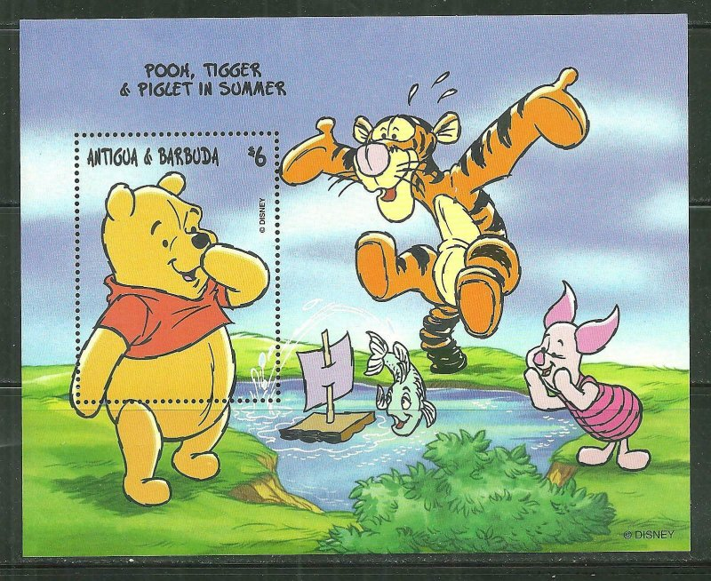 Antigua & Barbuda MNH S/S 2153 Pooh & Tigger & Piglet In Summer SCV 5.00