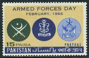 Pakistan 222, MNH. Emblems of Pakistan Armed Forces, 1966