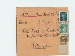 Germany 1927 Portraits multi  stamps cover  front   R20610