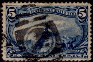 US Scott #288 - 1898 Trans-Mississippi Perf 12 w/ #191 Water Mark CV~$25