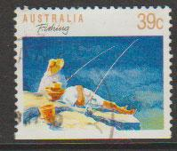 Australia SG 1179ba FU -  booklet stamp perf 13 1/2 botto...