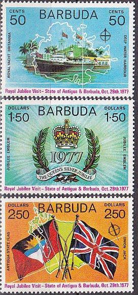 Barbuda MNH 302-4 Royal Visit 1972