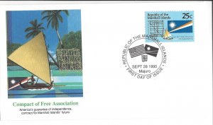 Marshall Island, 381, Compact of Free Assn. Fleetwood First Day Cover FDC, Used