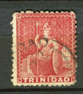 TRINIDAD; 1870s early classic QV issue used Shade of 1d. value
