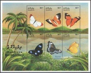 1999 Maldive Islands 3231-3236KL Butterflies 9,00 €