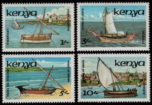 ✔ KENYA 1986 - DHOWS OF KENYA BOATS SHIPS - MI. 374/377 ** MNH [AFKN374]