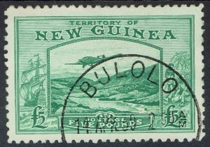 NEW GUINEA 1935 BULOLO AIRMAIL 5 POUNDS USED