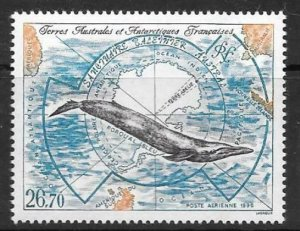 FRENCH SOUTHERN & ANTARCTIC TERRITORIES SG359 1996 SOUTHERN WHALE SANCTURY MNH