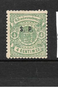 LUXEMBOURG  1881  4c ARMS OFFICIAL   MH  SC O41