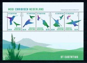 [CA047] Caribbean Netherlands 2014 Birds Pelican St. Eustatius souv. sheet MNH