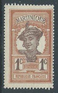 Martinique, Sc #62, 1c MH