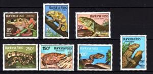 Burkina Faso 1985 Reptile Amphibians Snake Frog Turtles Lizard Animals Stamps