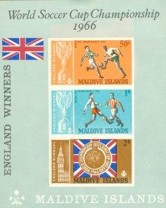 MALDIVES ISLANDS 231a MH SS SCV $13.50 BIN $6.50  WORLD CUP