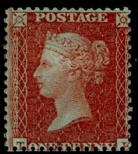 SG24, 1d red-brown, SC14 DIE II, M MINT. Cat £650.