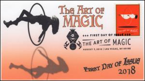 18-217, 2018, The Art of Magic, Pictorial Postmark, First Day Cover, Levitation