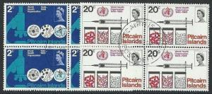 PITCAIRN 1968 World Health set blocks of 4 fine used.......................41397