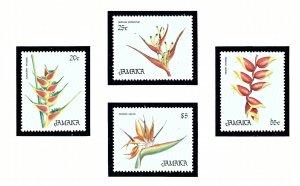 Jamaica 635-38 MNH 1986 Flowers