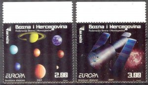 Bosnia 2009 Europa CEPT Astronomy set of 2 MNH