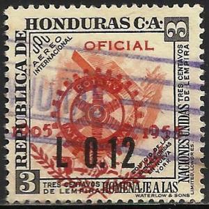 Honduras Air Mail 1955 Scott# C240 Used