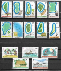 Tuvalu 23-37 MNH cpl set, vf. see desc. 2019 CV $ 30.00